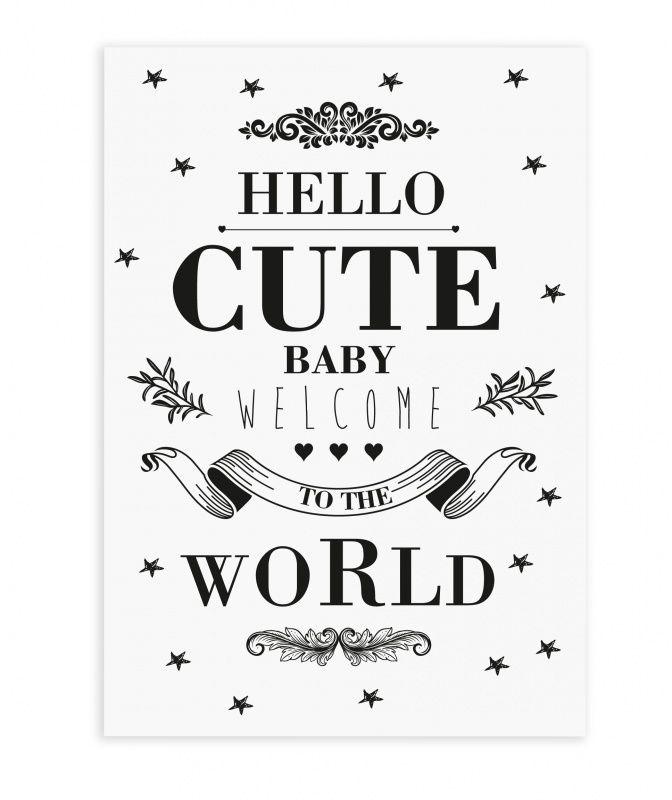 The Birds & The Bees `Kaart Cute Baby` | Zwanger en geboorte | Petite Louise