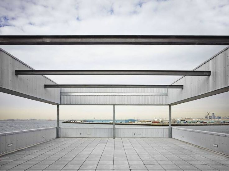 SIMS Material Recovery Facility - Brooklyn NY - Exterior photo of balcony - Selldorf Architects