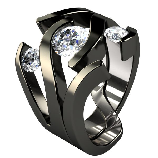 meghan black companion with meghan black engagement ring titanium - Titanium Wedding Rings For Her
