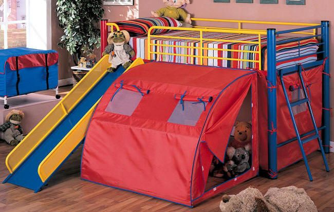 Color Crayon Fort Bed Kids Room Inspiration Bunk Bed
