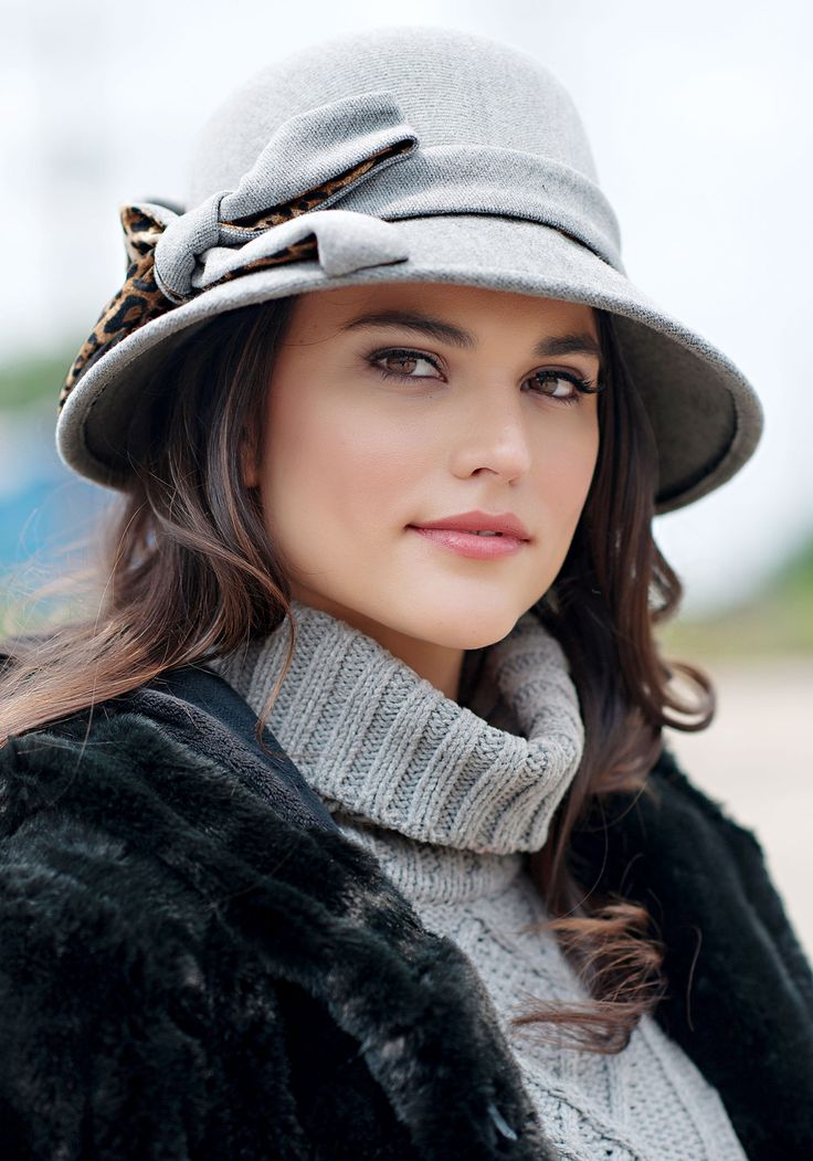 Fabulous Furs ... Grey Faux Wool Clouche Hat #makeupbychenese #catalogshoot