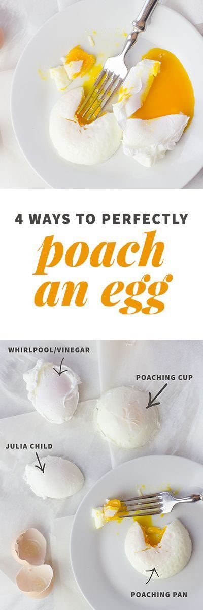 "4 Ways to Perfectly Poach an Egg: Whenever I post pictures of my breakfast with eggs, I inevitably get comments asking how in the world I make such perfectly poached eggs! So I thought I'd share with you four ways to poach an egg—two of them use ""special"