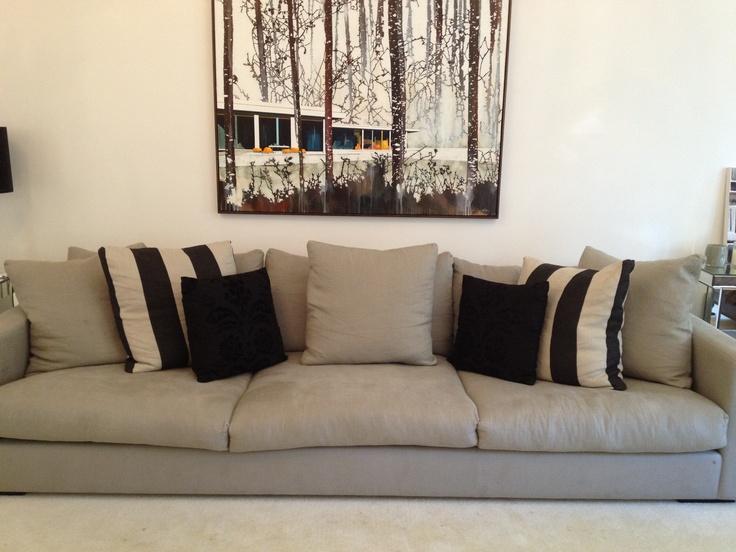 Jardan couch. 3 metres long 1.5 metres deep