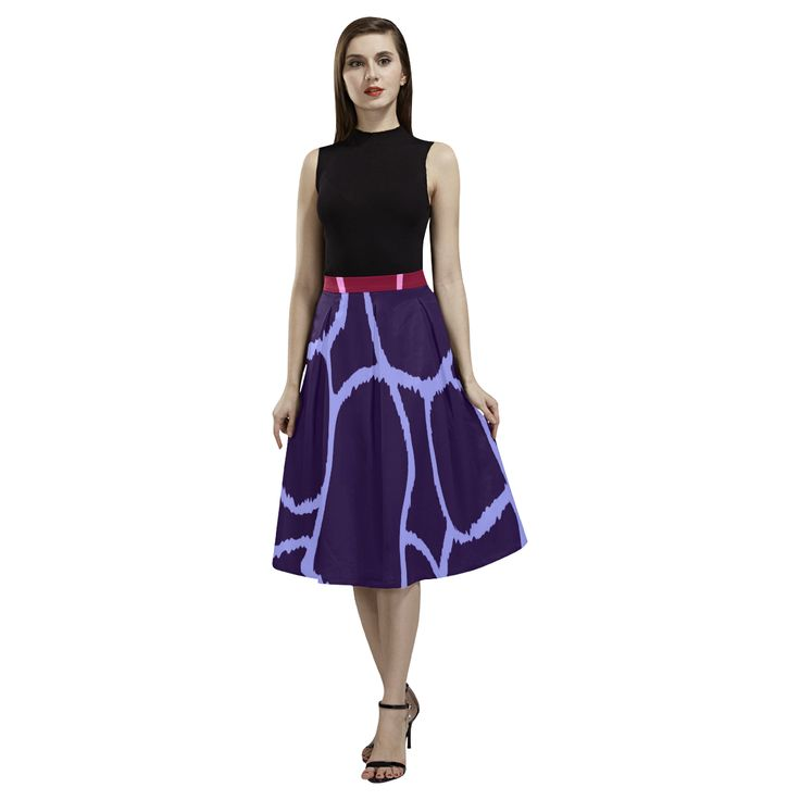DESIGNERS Giraffe long ladies Skirt / Giraffe edition Aoede Crepe Skirt(Model D16).