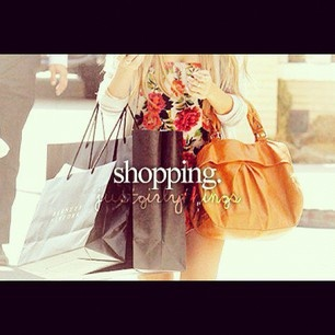 shopping, just girly things