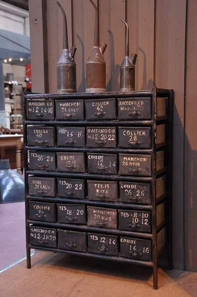 Industrial chest of drawers...love
