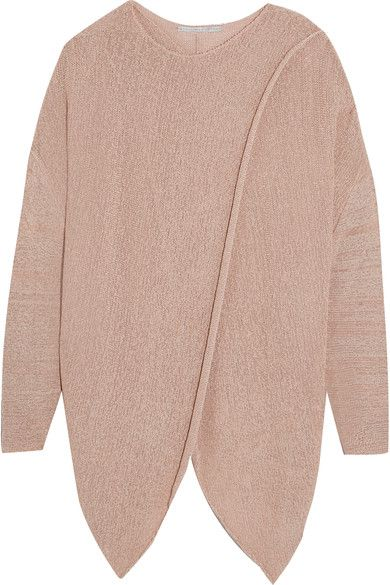 Stella McCartney - Draped Stretch-knit Sweater - Beige - IT40