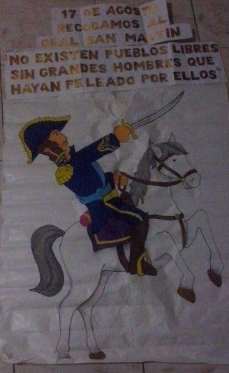Cartelera homenaje al Gral. José de San Martín