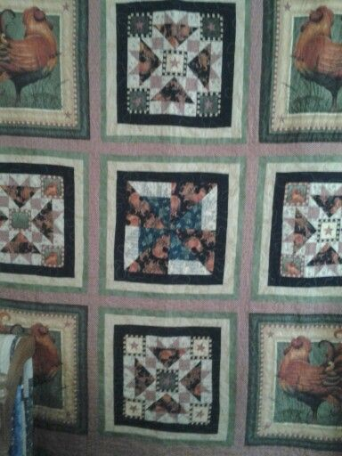 My rooster wall quilt.