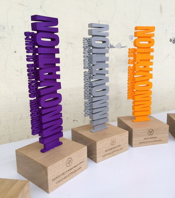Auchan - Creative Attitude 2014 - 3D printed trophies - 3D award maker
