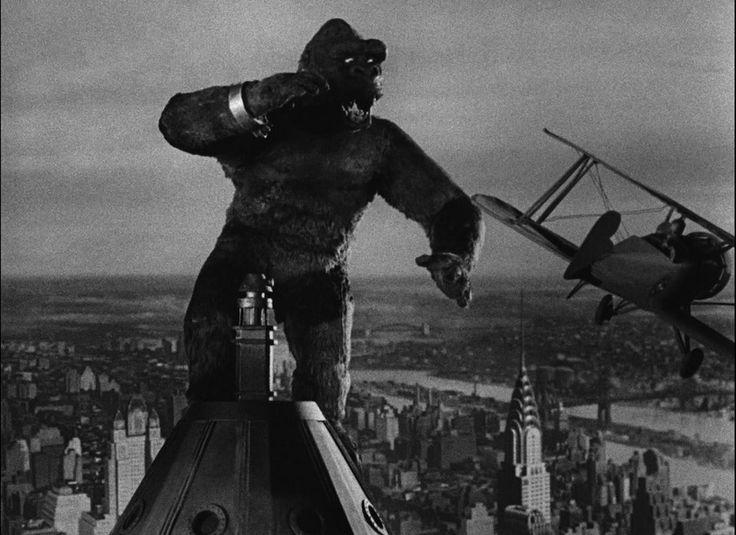 King Kong, 1933 King Kong = Empire State Building = New York = Huge = Iconic.: