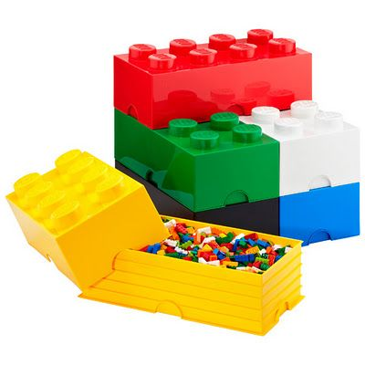 Lego Bricks Storage Containers I so need this for the kiddo's room.