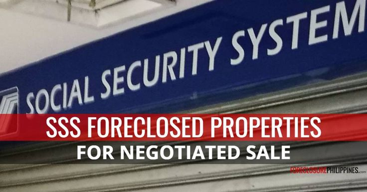 A total of 157 SSS foreclosed properties remain available for negotiated sale in their latest update, dated October 20, 2017. Details below.  SSS for