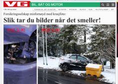 Faksimile fra VG om bilder fra trafikkulykker