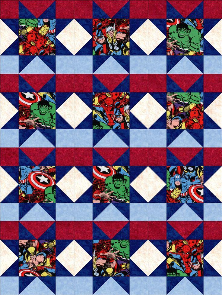 10 Best Quilts Images On Pinterest Superhero Quilt Quilting