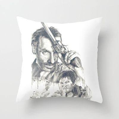 Walking Dead Throw Pillow by Heather Andrewski - $20.00