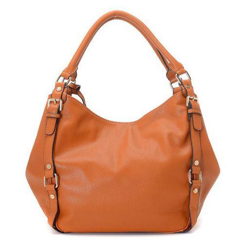 Michael Kors Bedford Large Orange Shoulder Bags [mksale1614] - £45.90 : Michael Kors Outlet Sale