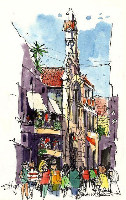 Dibujantes Urbanos: Explorando Sitges!                                                                                                                                                     Más