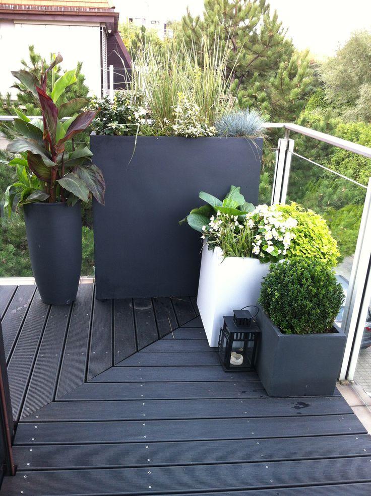 Donice stalowe, tarasowe, ogrodowe, zewnętrzne