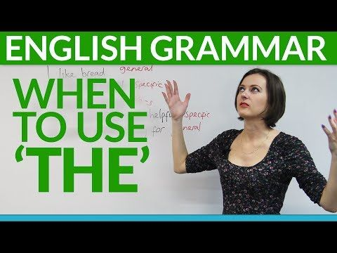 Grammar: 8 rules for using 'THE' in English ( when to use a definite or an indefinite article) -         Repinned by Chesapeake College Adult Ed. We offer free classes on the Eastern Shore of MD to help you earn your GED - H.S. Diploma or Learn English (ESL) .   For GED classes contact Danielle Thomas 410-829-6043 dthomas@chesapeake.edu  For ESL classes contact Karen Luceti - 410-443-1163  Kluceti@chesapeake.edu .  www.chesapeake.edu
