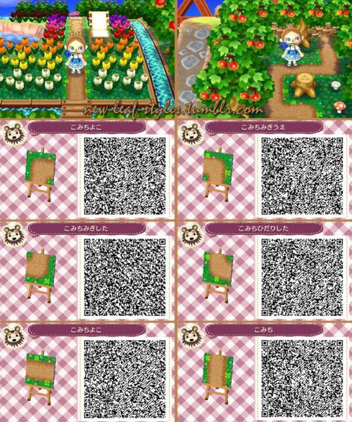 New Leaf Dirt Path With Images Animal Crossing Qr