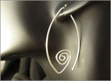 wire earrings. Maybe add a bead or something