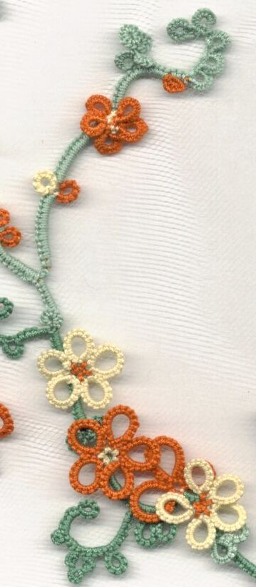 Bicolor Needle Tatted Rings how-to...... No pattern for this piece, but it looks so nice ! Wonder if it'll turn out as good with shuttle tatting ?!