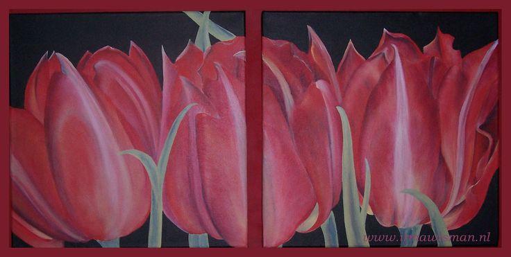 Afbeeldingsresultaat voor tulpen schilderen met acryl