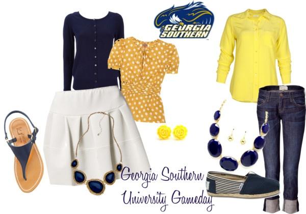 Georgia Southern University Gameday #football dress casual