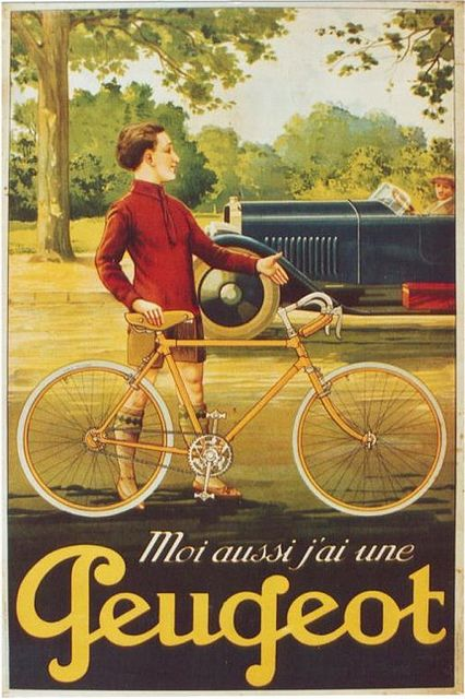 """I own a Peugeot too."" Did you know Peugeot made bicycles as well as cars? #AspirationalWealth #FrenchCars New cars: http://www.howardsgroup.co.uk/new-cars/new-peugeot-cars"