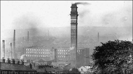 India Mill chimney in Darwen was the tallest and most expensive in the country when it was completed in 1867.