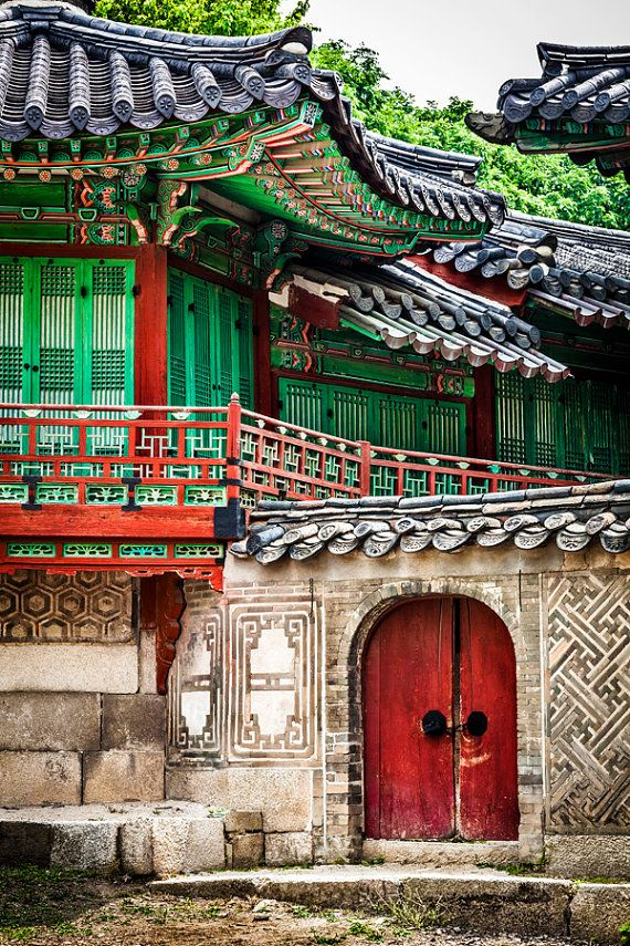 Ancient Korean Palace Large Wall Art Korea by AvalonPrintShop