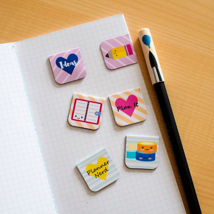 Magnetic Bookmarks : Stationery Addicts   Planner Nerds