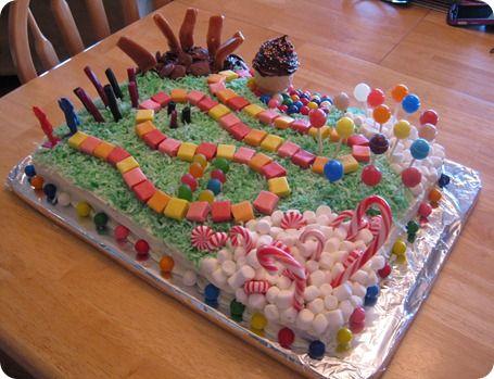 Candyland Birthday Cake!!!!!!!!!!!