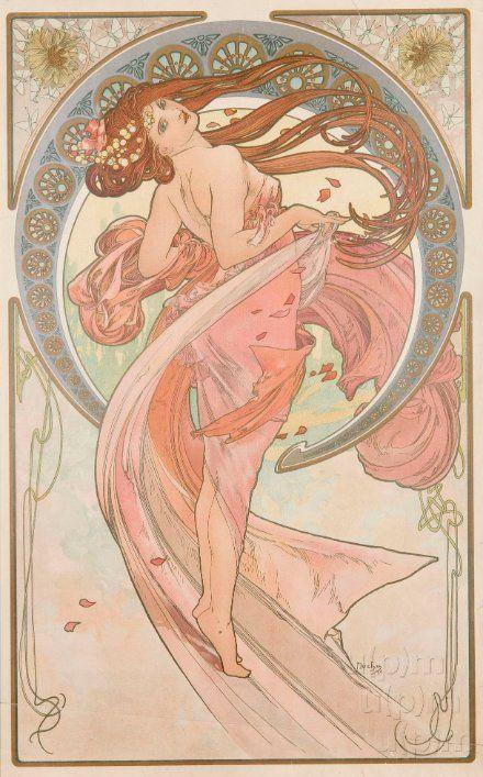 Dance by Alphonse Mucha, 1898. www.esbirky.cz, CC0