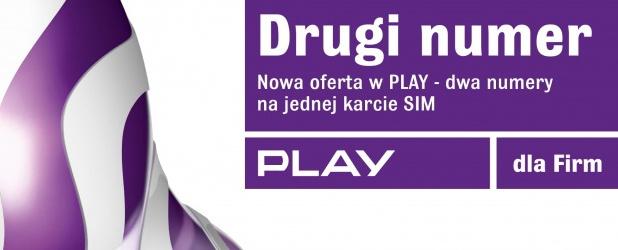 Play zapowiedział dzisiaj wprowadzenie usługi umożliwiającej, zarówno klientom indywidualnym jak i biznesowym, korzystanie z dwóch numerów telefonów na jednej karcie SIM. http://www.spidersweb.pl/2013/04/play-drugi-numer-na-karcie-sim.html
