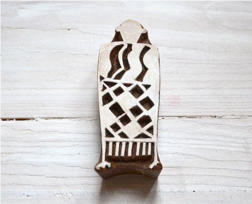 Dřevěná razítka - Afričanka v šatech