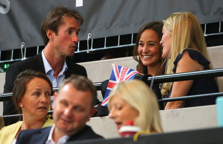 Pippa Middleton and Autumn Phillips attend the Jaguar Land Rover Exhibition Wheelchair Rugby Match during day 2 of the Invictus Games, presented by Jaguar Land Rover at the Copper Box Arena on September 12, 2014 in London, England.