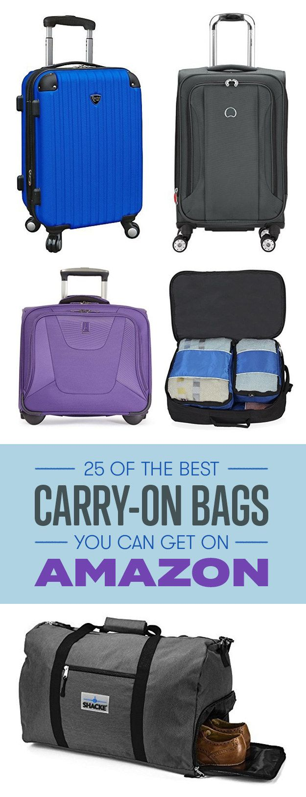 Who needs luggage when you have a carry-on that fits everything?