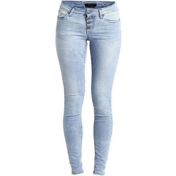 Object Collectors Item Objliva - Super Slim Fit Jeans ($64) ❤ liked on Polyvore featuring jeans, pants, bottoms, calça, light blue denim, slim cut jeans, stretchy jeans, stretch blue jeans, tall jeans and stretch jeans