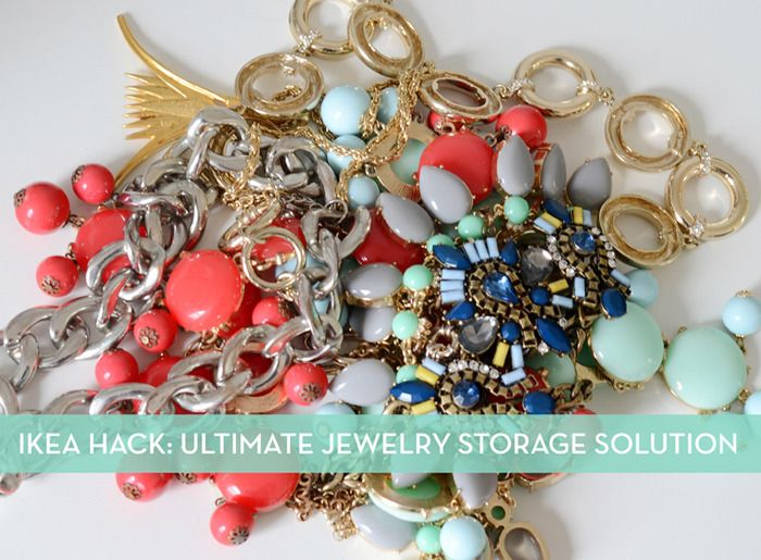 You'll never have to untangle another necklace with this fantastic jewelry storage IKEA hack.