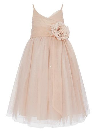 Ballet pink bridesmaid dress - for flower girls?