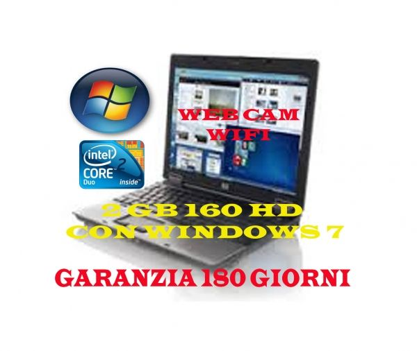"AFFARE D'ORO""""HP 6530b WEBCAM E WIFI CON WINDOWS 7 2GB 160HD , WEB CAM E WIFI 180 GIORNI DI GARANZIA"