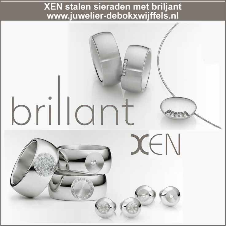 Xen sieraden | Staal in combinatie met briljant | mooi, tijdloos, moderne sieraden. #xen #xensieraden #sieraden #stalensieraden #briljanten #diamanten #ringen #JDBW