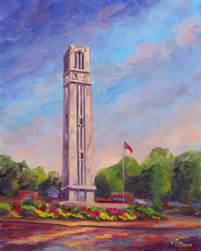 """The Bell Tower at NC State University"" - Jeff Pittman"