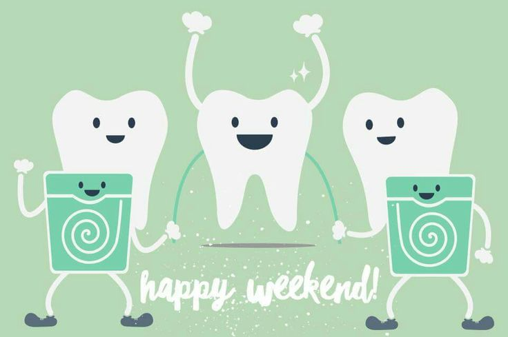 Weekends can be busy, but you need to make time to floss!
