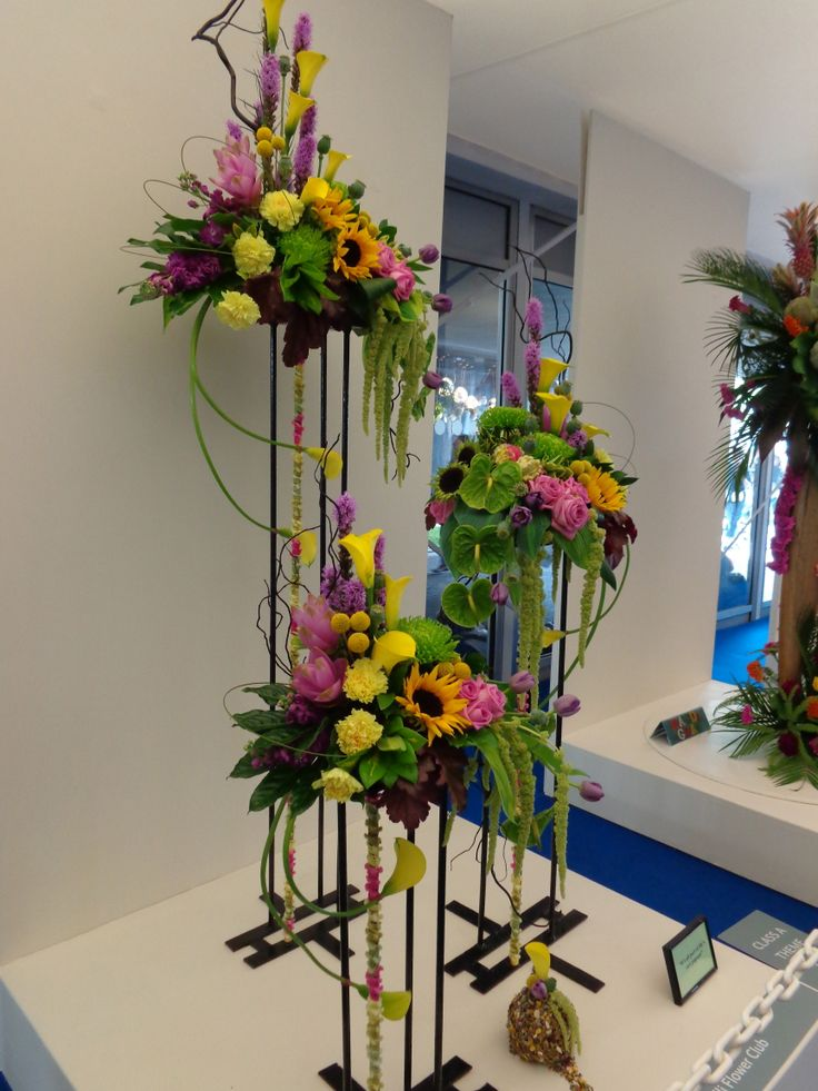 The floral art exhibits and prize winners