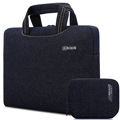 BRINCH Deluxe Universal Fabric Portable thin Light Durable Waterproof Anti-tear Laptop Pouch Sleeve Case Bag / Carrying Handbag Briefcase / Laptop Messenger Bag
