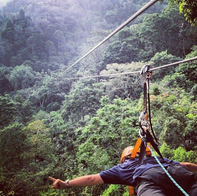 Tree-Top Flights on wires in Phuket, Thailand