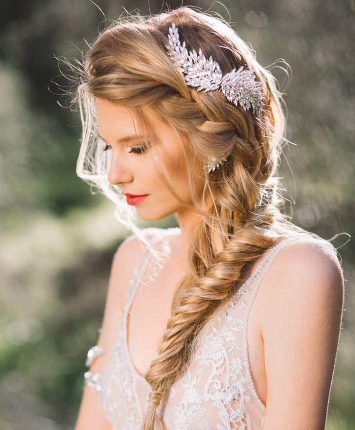 maneras de lucir trenzas en tu peinado de novia